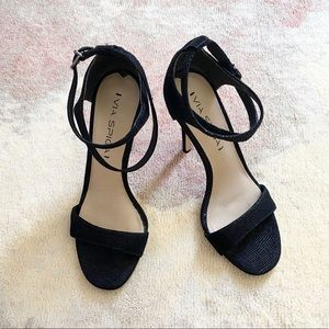 Via Spiga Tiara Black Heel Sandals